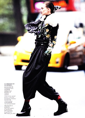 Rianne ten Haken by Daniel Jackson for Vogue China November 2010, part 2