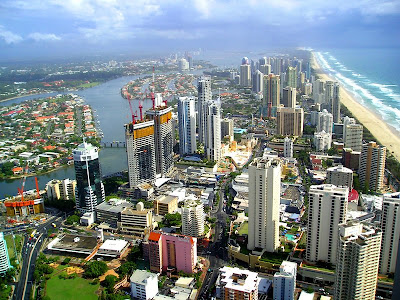 gold coast map australia. Gold Coast is the 2nd most