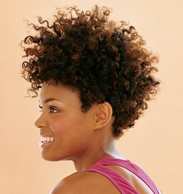 African American Wedding Hairstyles & Hairdos: Curly Afro - Natural