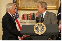 President Bush USDA Ed Schafer  Agriculture Secretary Food Fuel