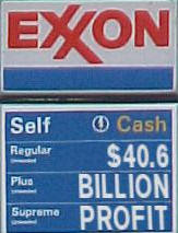 Exxon Mobil Oil Gas Gasoline Profit Inflation