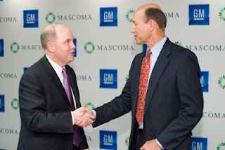 General Motors President Fritz Henderson Mascoma Chairman and CEO Bruce Jamerson ethanol E85