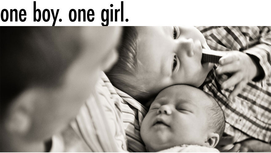 One Boy. One Girl.