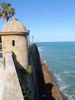 Walls of Cadiz, Spain