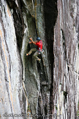 Matt McCormick on a free ascent of Another Whack and Dangle Job at the King Wall in the Adirondacks