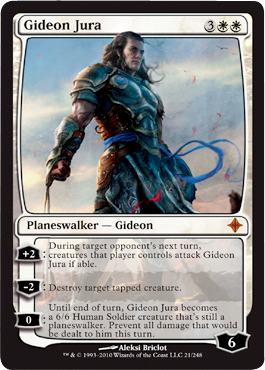 Auntie's Hovel: Gideon Jura: Rise of the Eldrazi planeswalker Planeswalker Points