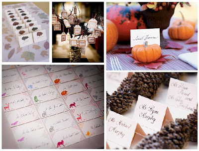 Place Card Table Decorations