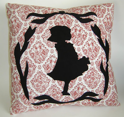 Little Red Riding Hood Applique Pillow