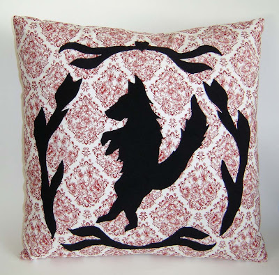Big Bad Wolf Applique Pillow