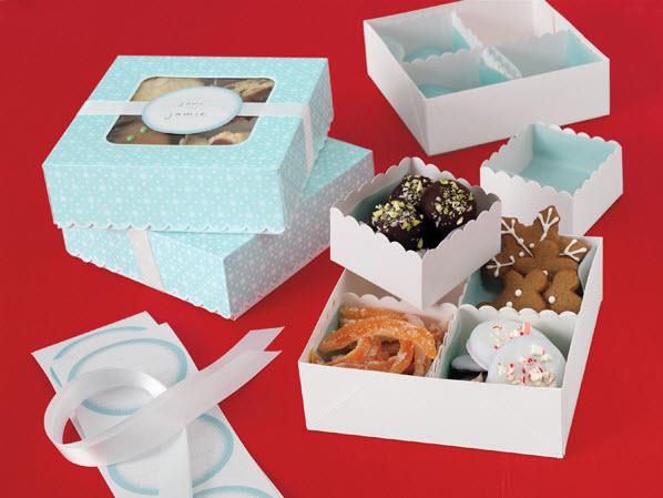 Quaintly garcia winter wonderland compartment treat box