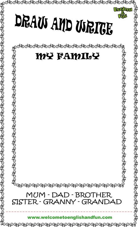 INGLu00c9S EN EL AULA: My family
