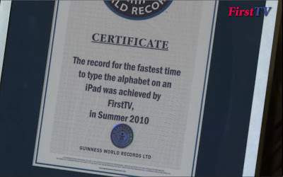 First TV gets Guinness World Record award