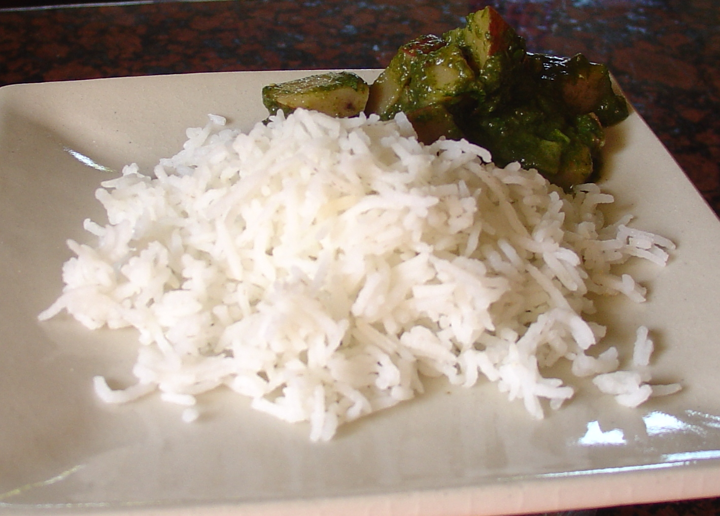Wash The Rice (preferably Basmati) In Several Changes Of Water Add Enough  Water To