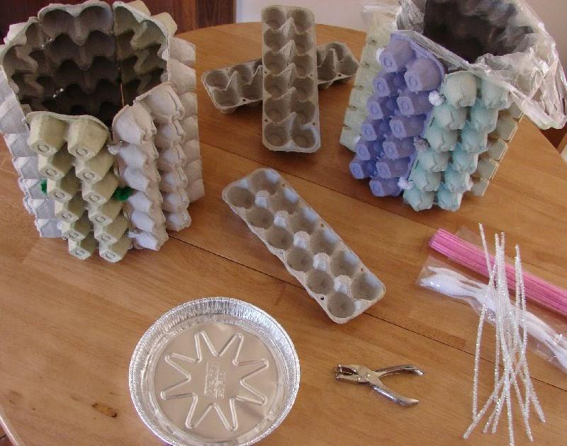 handmade moon egg carton waste baskets. Black Bedroom Furniture Sets. Home Design Ideas