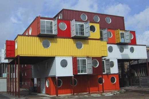 Rumah Susun 5 Lantai Dari Kontainer