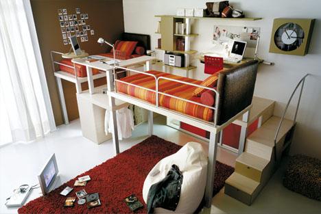 Desain Kamar Tidur Keren Dengan Furnitur Hemat Ruang