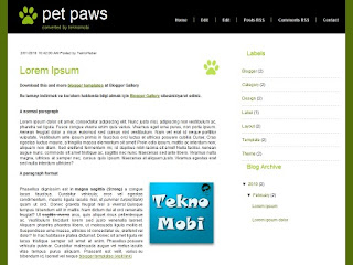 pet paws, blogger templates, animal blogger tempaltes