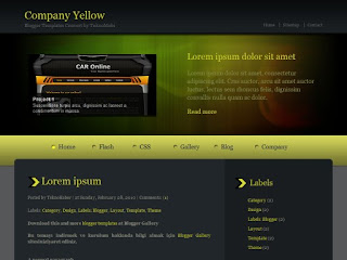 Company Yellow, templates, blogger