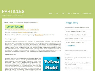 Particles, blogger, blogger templates, themes