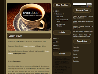 blogger templates, 3 columns, dark themes,