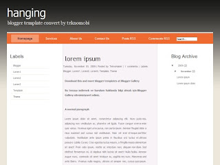 three columns, blogger themes