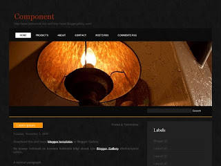 dark template, blogger templates, 2 columns
