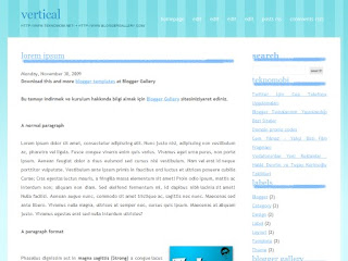 2 columns, blogger templates, vertical templates