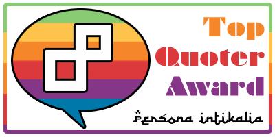 Persona Intikalia Top Quoter Award