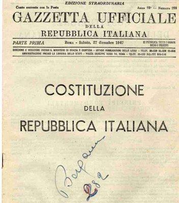 L 39 arameo errante la costituzione della repubblica for Senatori della repubblica italiana nomi