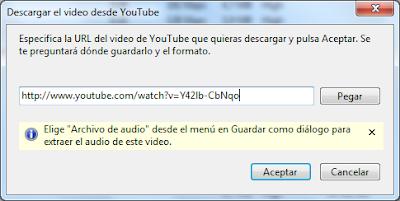 Descargar desde YouTube con Songr