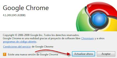 Imagen: Actualizar Google Chrome