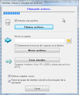 Imagen: Duplicate Cleaner - Eliminando archivos
