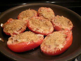Four Cheese Stuffed Tomatoes