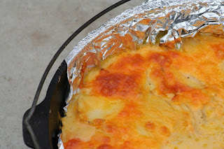 Dutch Oven Augratin Potatoes