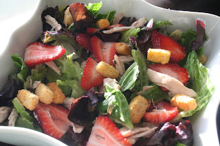 Shredded Chicken and Strawberry Citrus Salad