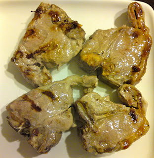 Monday's breakfast - lamb chops
