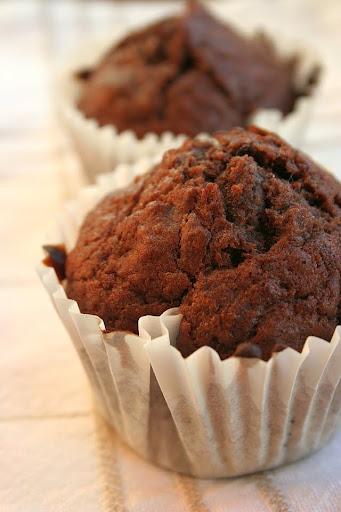 Muffiny czekoladowo-bananowe