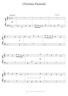 partituras de piano facil Valentin Rathgeber Christmas Pastorale