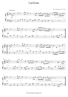 Partitura de piano gratis de Johann Philipp Kirnberger: Carillons