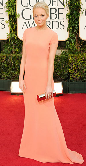 I guess, in all fairness, Emma's dress is more on the coral-orange side but
