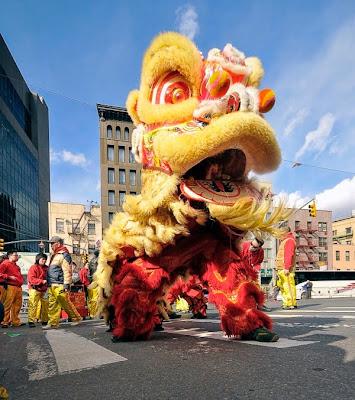 Parada Smoków Chiny Nowy Rok