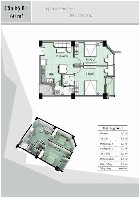 Căn hộ B1 60 m2