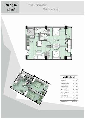 Căn hộ B2 60 m2