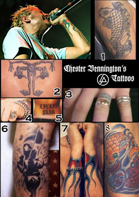 Beautiful Tattoo Chester Bennington Tattoo  Chester Bennington Tattoo