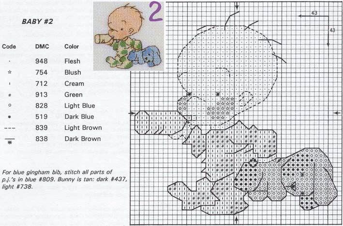 Схема вышивки малыш 3