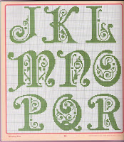 схемы букв для вышивания