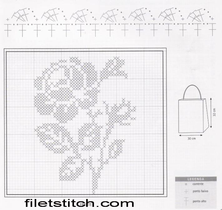 Страна мам схемы филейного вязания