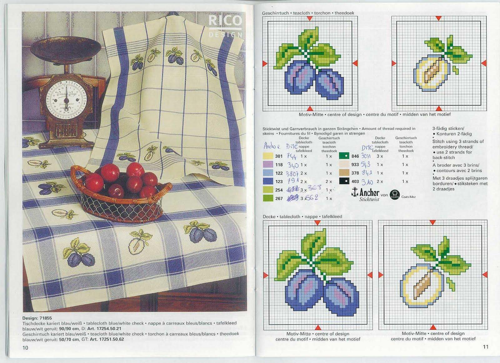 h схемы вышивания крестом для кухни чашки