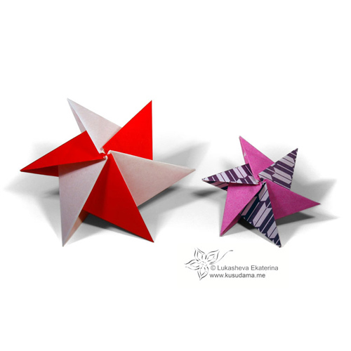 """Бумажные звезды-кусудамы. """""""