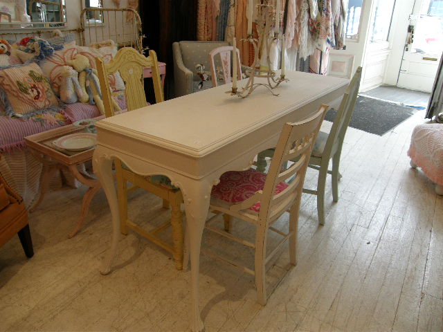 Vintage chic furniture schenectady ny the cutest shabby chic dining room set - Shabby chic dining rooms ...